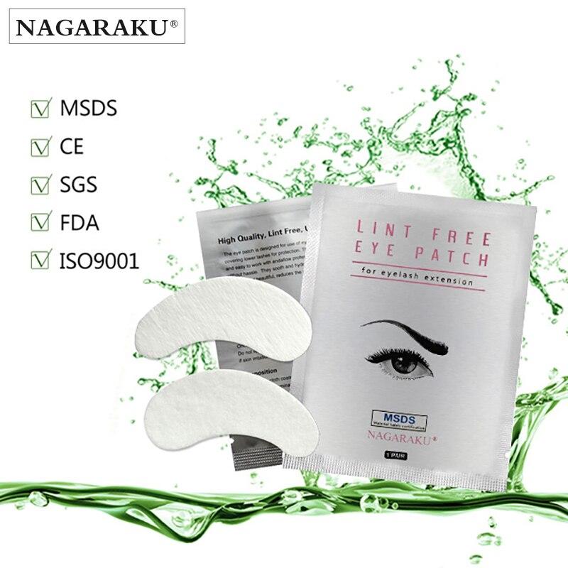 NAGARAKU 500 pairs set Under eye pads Lint Free Eye Gel patches Eye patches for eyelash
