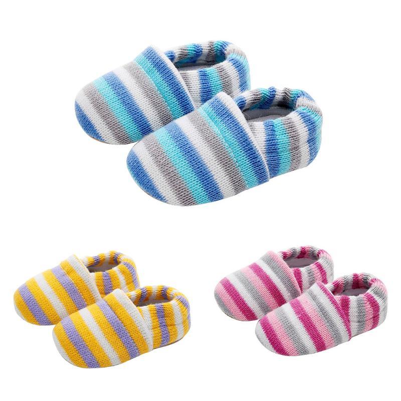 Дышащая зимняя обувь малышей Европейский противоскольжения детская вязаная Обувь для малышей новорожденных для маленьких девочек мальчик... ...