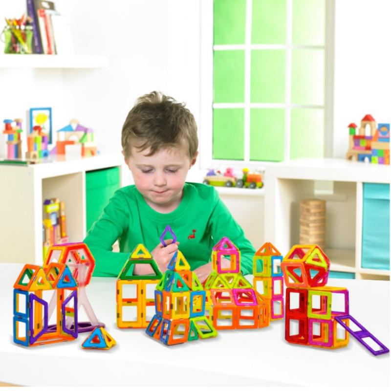 Magnetic Blocks DIY Magnetic Building Set Colorful Educational Magnetic Tiles STEM Toys
