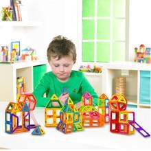 Магнитный конструкторский набор для строительства, модель, блоки, Забавный ребенок, сделай сам, головоломка, развивающие магниты, магнитные игрушки для детей, подарок