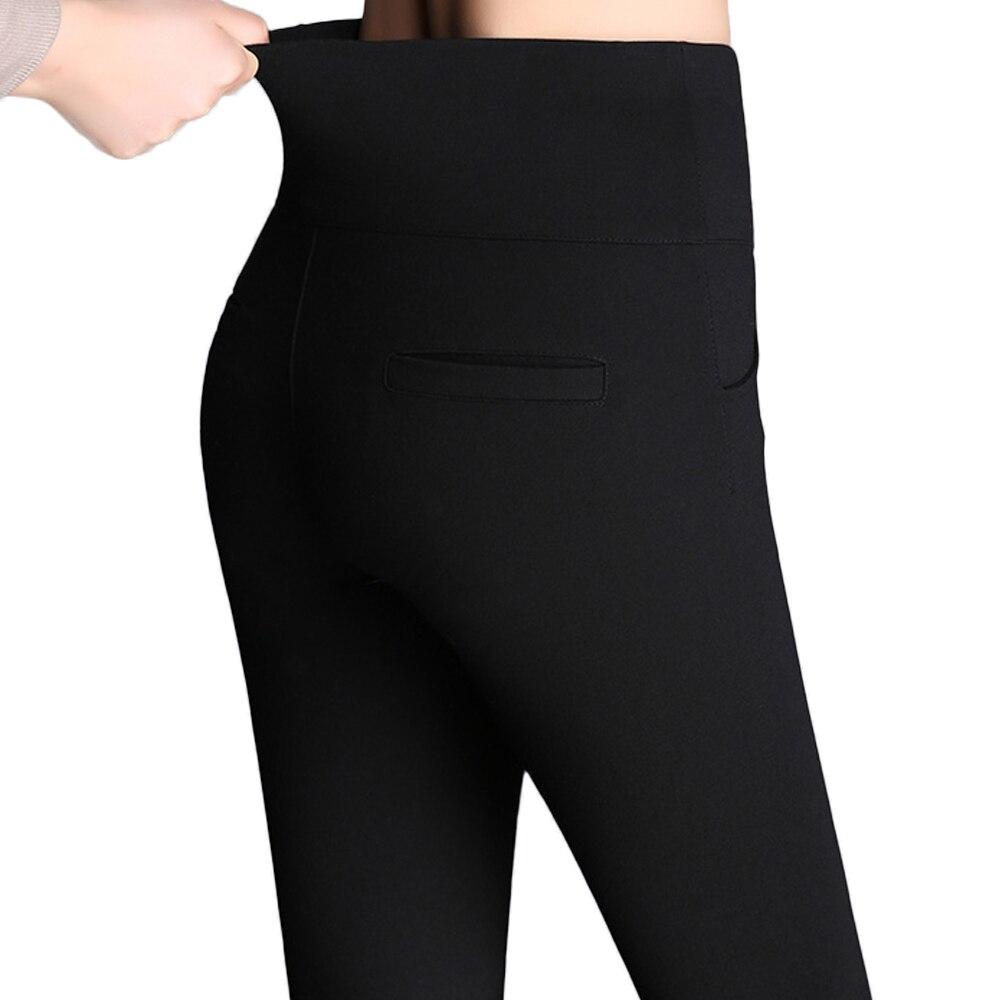 New Women High Waist Pencil Pants Female Plus Size 5XL 6XL Casual Pants Elegant Ladies Skinny Trousers High Stretch Leggings
