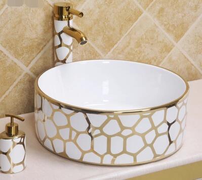 European-style boutique retro gorgeous ceramic art basin wash basin counter basin vanity HL666