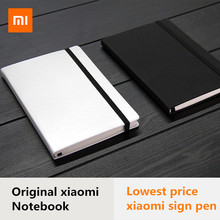Original Xiaomi PU Leather Cover 160 Pages Notebook Mi diary planner hardcover mijia metal sign refill For xiaomi smart home