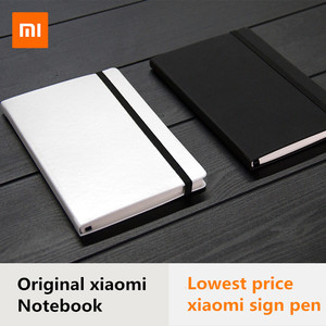 Image 1 - Original Xiaomi PU Leather Cover 160 Pages Notebook Mi diary planner hardcover mijia metal sign refill For xiaomi smart home