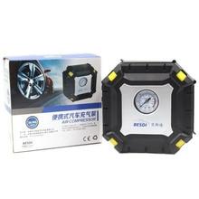 60PSI 30l/мин автомобильных шин Насосы для автомобиля 100 Вт 12 В одноцилиндровый цифровой Дисплей воздушный компрессор со светодиодной подсветкой для велосипеда Покрышки