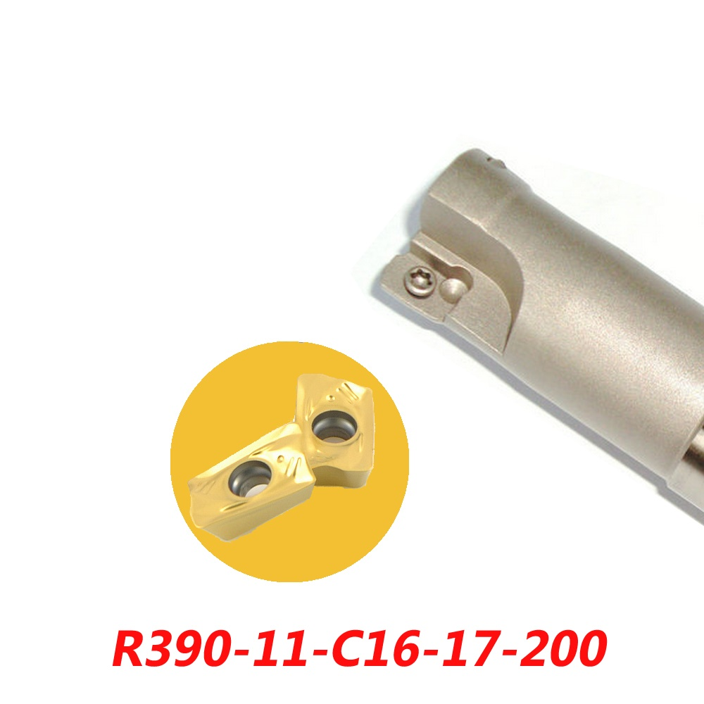 Free Shipping R390-11-C16-17-200 Indexable Face Milling Cutter Tools For R390-11T308 Carbide Inserts Suitable For NC/CNC Machine