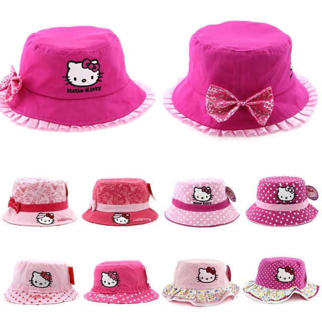 dabb5e45eea49 2014 new cap baby   kids bucket hat hello kitty children accessories fishing  hat outdoor summer sun hat for girls