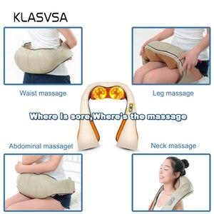 Image 4 - KLASVSA 12 Massage Heads Sưởi Ấm Cổ Vai Nhào Massager Cổ Tử Cung Điều Trị Chăm Sóc Sức Khỏe Lại Eo Pain Relief Thư Giãn