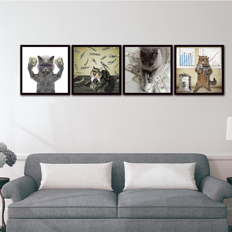 Wall Art Pictures Canvas Paintings Newest Island 5 Panels Decorations Modern Canvas Prints Artwork Cat and Cash Decor no frame