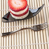 100pcs Lot 10cm Plastic Dessert Silver Fork Disposable Shiny Fork 3 9 Mini Partyware For Wedding