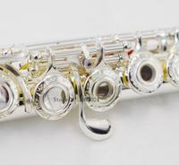 Chinese Brand RODWARE 210 Curved Musical Instrument Silver Plated 17 Opening C Tune and Flute Music Professional