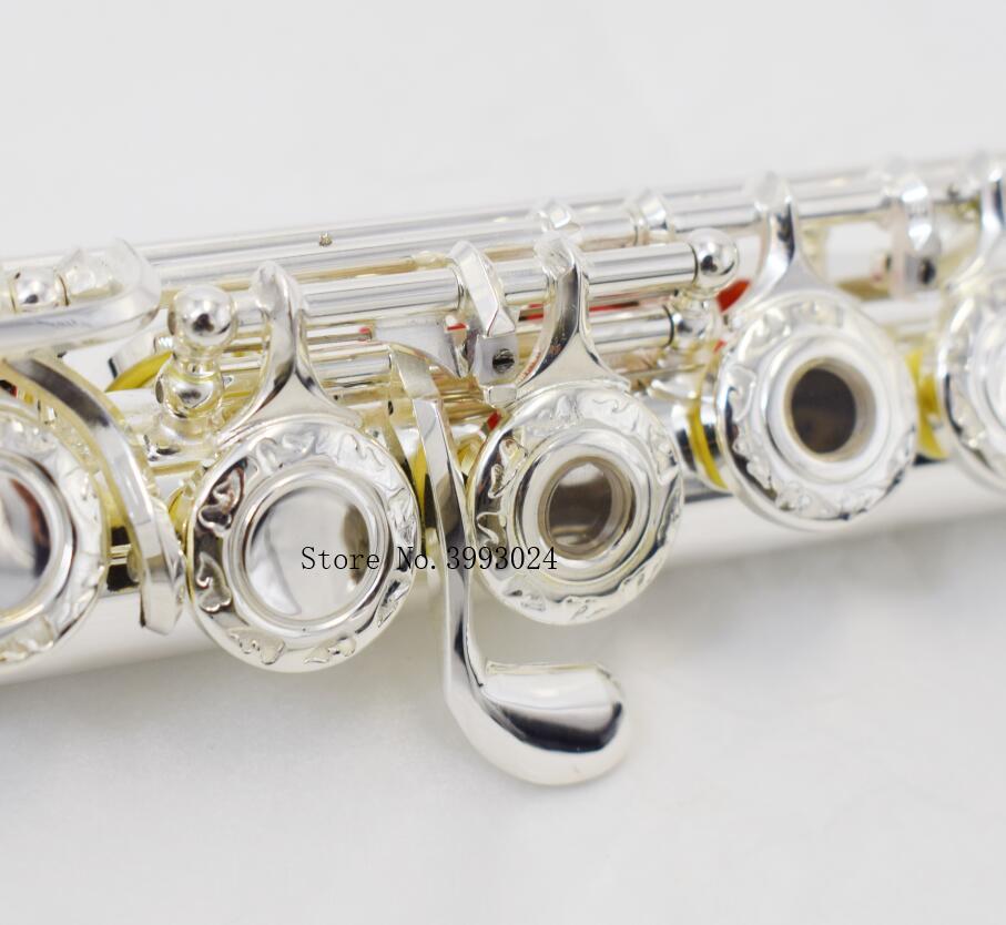 Chinois Marque RODWARE 210 Courbe Instrument de musique Argent Plaqué 17 Ouverture C Tune et Flûte Musique Professionnel