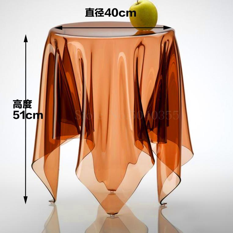 Прозрачный журнальный Столик Круглый акриловый привиденный стол плавающая Волшебная скатерть креативная сторона для обсуждения журнального стола для отдыха - Цвет: 40cm