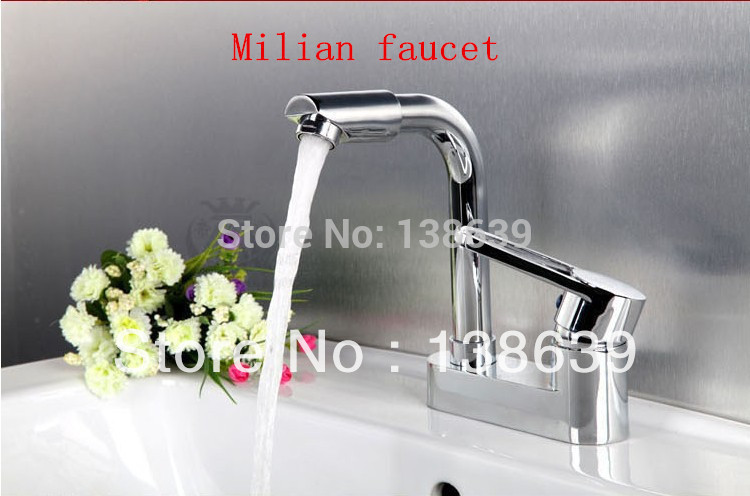 Tall Contemporary Chrome Bathroom Vessel Sink Faucet: Free Shipping Wholesale Sale Luxury Basin Faucets. Brass