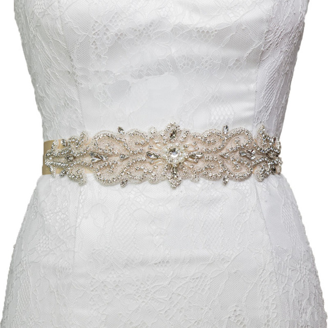 Gorgeous Pearls and Rhinestone Trim And Detailed Bridal Sashes Wedding Sash Rhinestone Belt Bridal Belt for Wedding Accessories