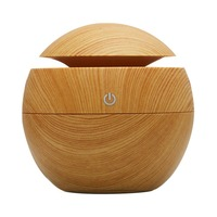 130ML Portable Size Wooden Aroma Essential Oil Diffuser Home Office Ultrasonic USB Rechargeable Mist Humidifier DC