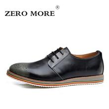 Zero более британский стиль Разделение кожаная мужская повседневная обувь Обувь с перфорацией; туфли-оксфорды для мужские оксфорды Новый 2017 Мужской работы мужская обувь