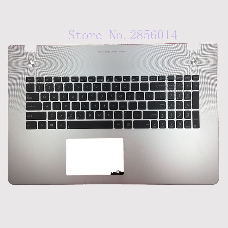 New US Keyboard for Asus N76 N76V N76S N76VM English Laptop keyboard without backlit Palmrest Upper laptop keyboard for acer silver without frame bulgaria bu v 121646ck2 bg aezqs100110