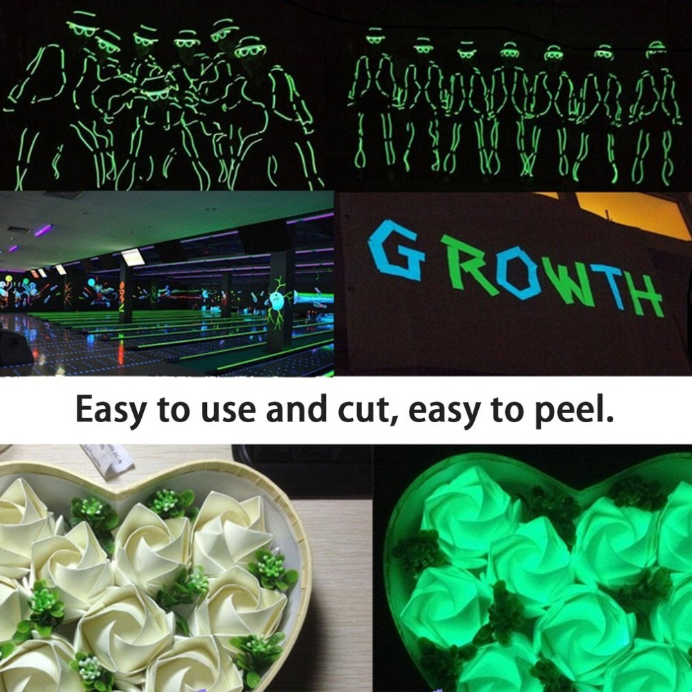 Reflective Luminous Tape Self-adhesive Glow In Dark Sticker For Exit Sign Walls Safety Stage Night Vision Home Decoration Tape 4