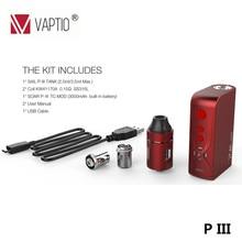 elektronik sigara Vape P3 ecig Kit 100W Box Mod kit 100W e cigarette With 0.1-3.0ohm P III Vaporizer VS ijust stick