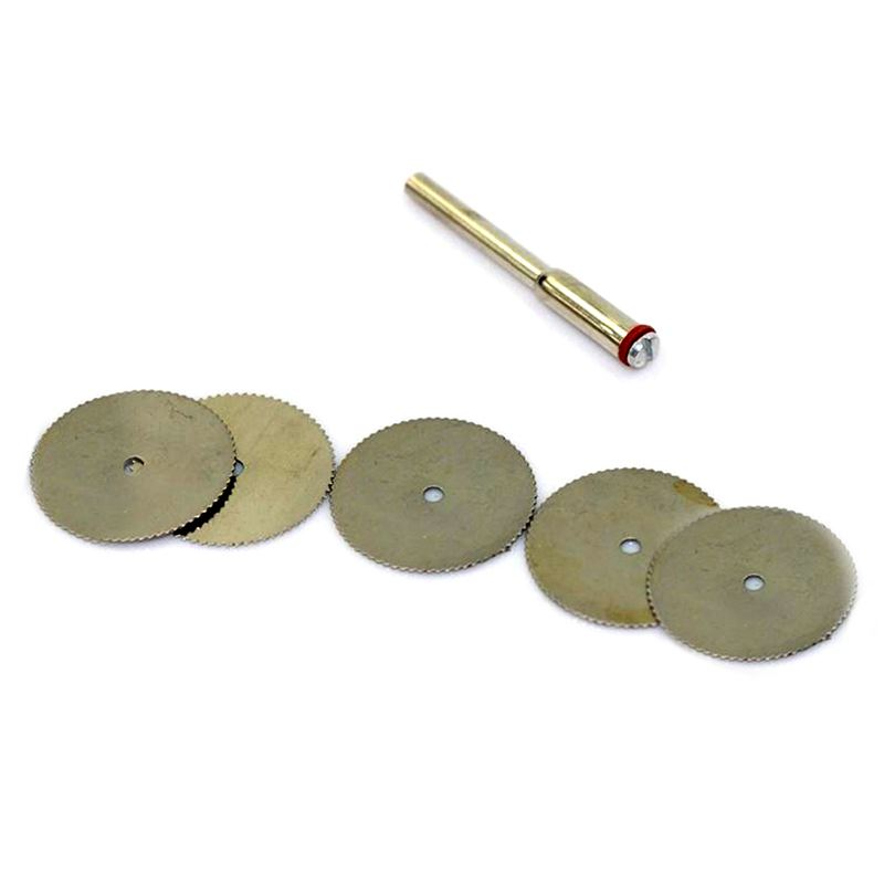 New Arrival 6 Pcs 22mm Disc Wheel Cutting Blade Wood Saw For Drill Multi Rotary Tool