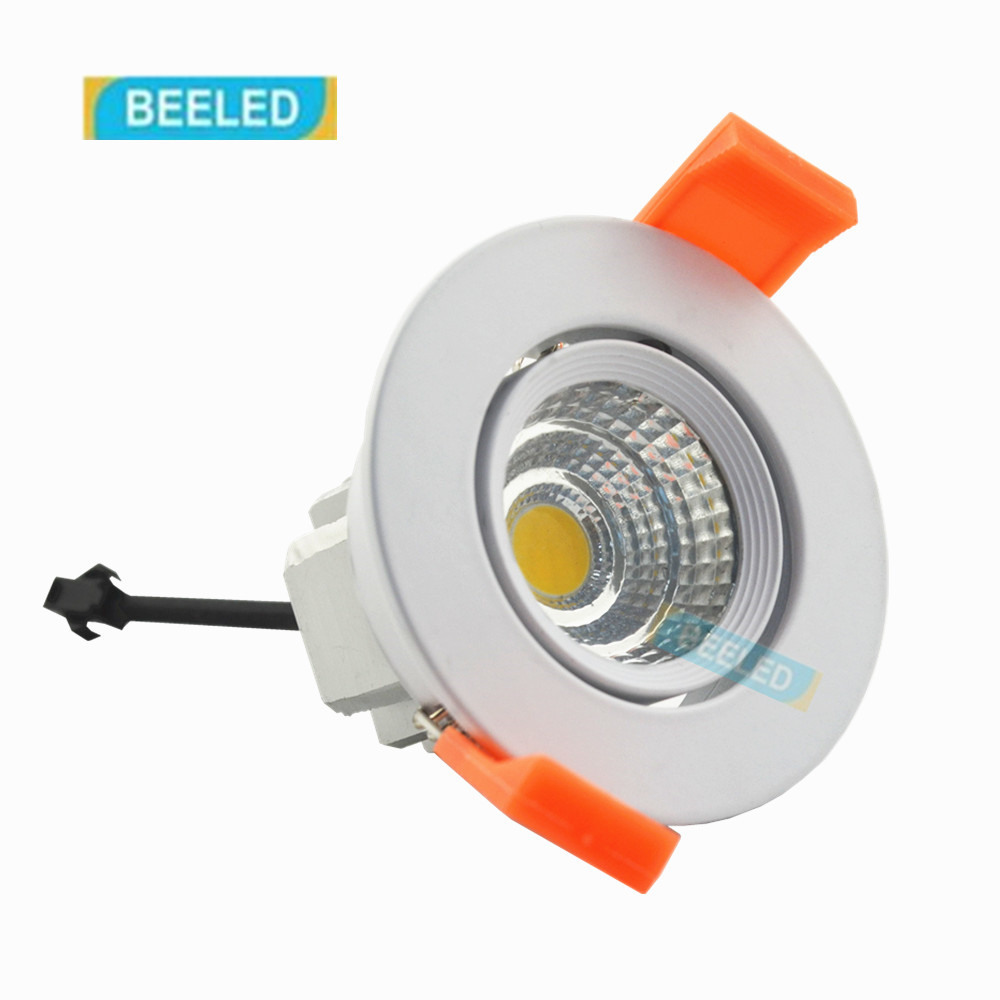 Dimmable LED COB ceiling light 3W free shipping China Post with track led lamp bulb led spotlight 110V 220V Aluminum body