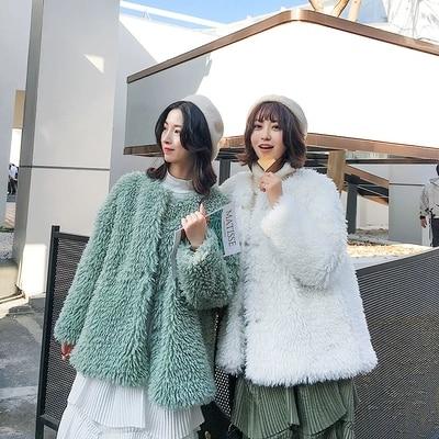 2018 New Style High-end Fashion Women Faux Fur Coat C34