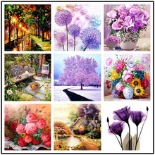 Diamond Embroidery Sale Painting Flowers Embroidered Landscape  Full Drill Cross Stitch 5D Diy