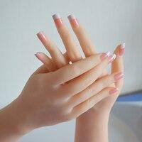 Бесплатная доставка! Высокий уровень реалистичные женские мягкие кремния гибкий Манекен ручной для кольцо браслет и дисплей перчаток