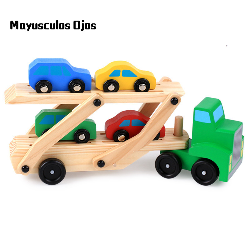 ZH 1PC Wooden Educational Toy Car Model Children Toy ...