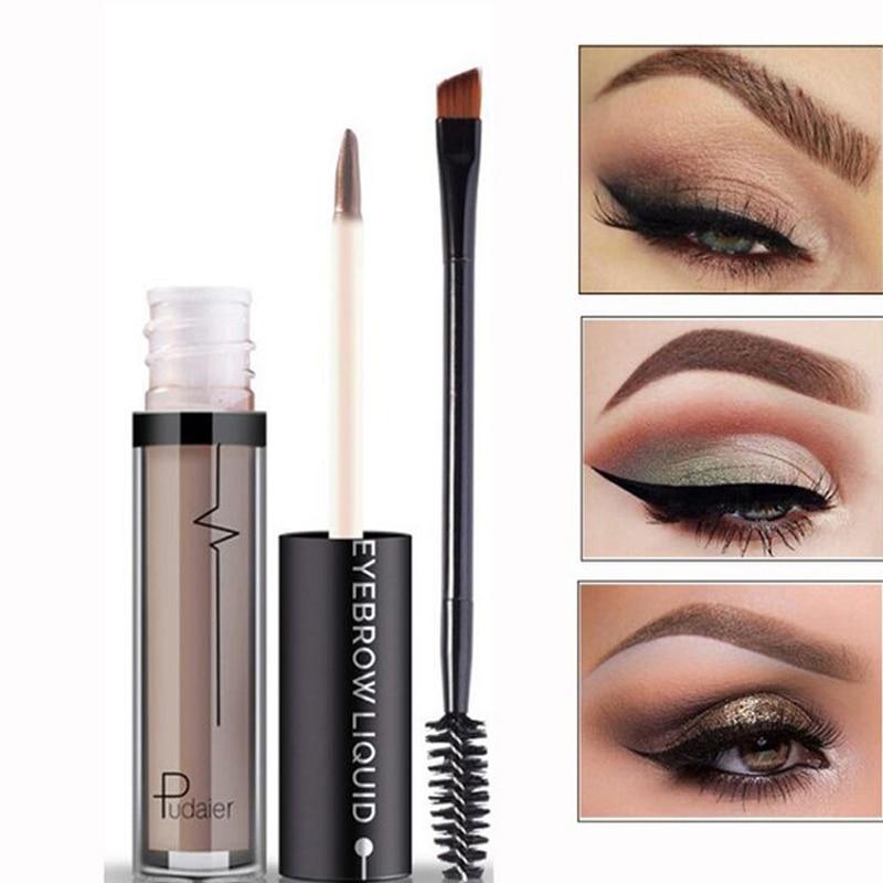 Waterproof eyebrow liquid makeup with brush 1pc for Tattooed eyeliner brand