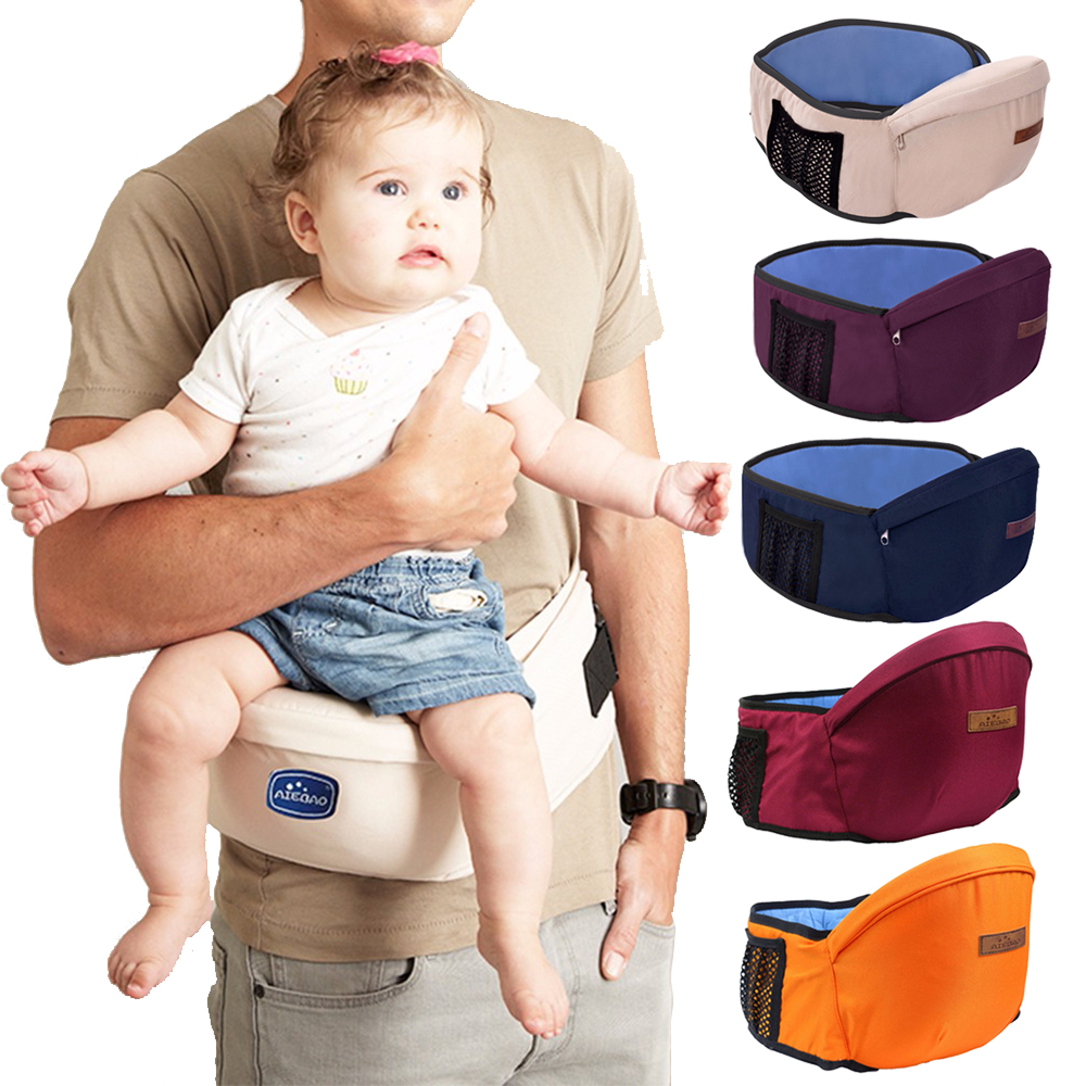 Baby Carrier Waist Stool Walkers Adjustable Toddler Front Holder Wrap Belt Safety Front Carry Infant Barrier For Mom And Dad