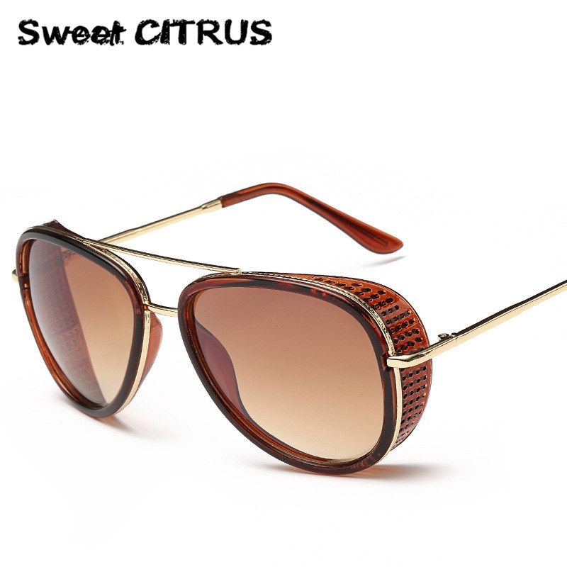 Steampunk Sunglasses With Side  online get side shield sunglasses men aliexpress com