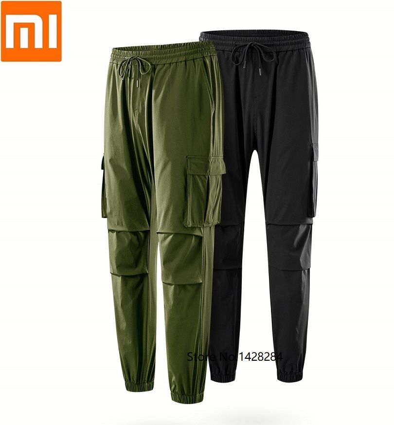 Xiaomi ULEEMARK men s retro tooling trousers Multi pocket Tier 70D four sided bomb Loose Beam