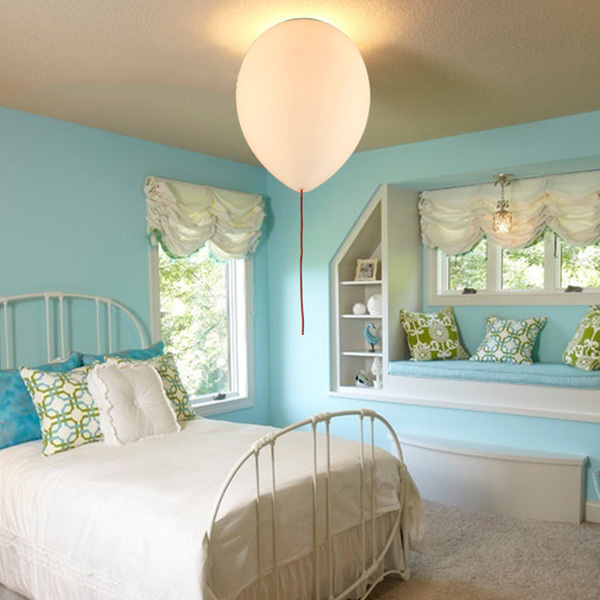 Modern kids bedroom balloon celing lights creative glass for Glass ceiling bedroom