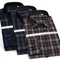 95% Шерсти Плюс Размер мужская Clothing Мода Новые Осень-Весна Марка Рубашка Slim Fit Рубашка Masculina Длинным Рукавом