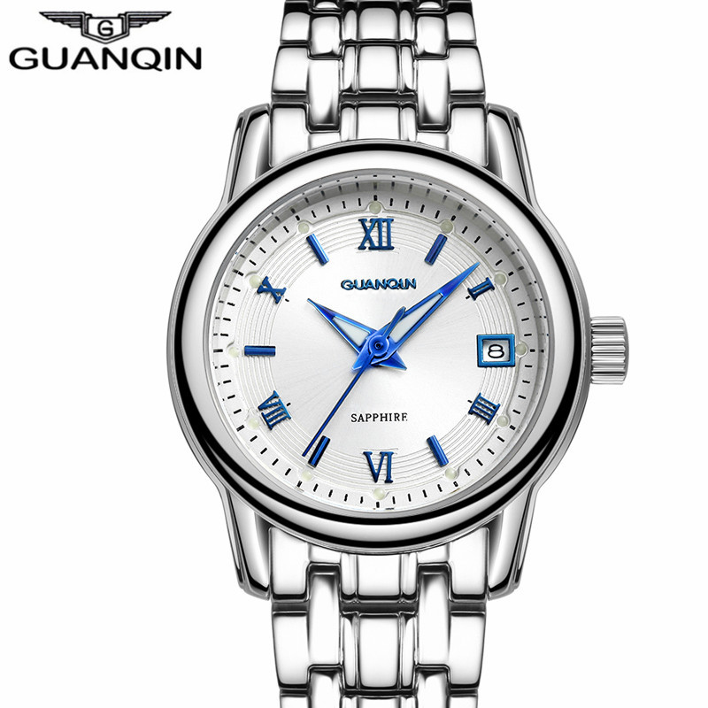 relogio feminino GUANQIN Watches Women Fashion Sapphire Quartz Watch Ladies Luxury Gold Steel Bracelet Wristwatch montre femme mulilai 2018 dress women watches full steel rose gold bracelet wristwatch business quartz ladies watch montre relogio feminino