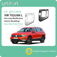 Uniron Car Styling Gear Shift Box Lever Panel Cover Storage Box Gear Panel Trim Frame ABS for VW Volkswagen Tiguan L 2017 2018