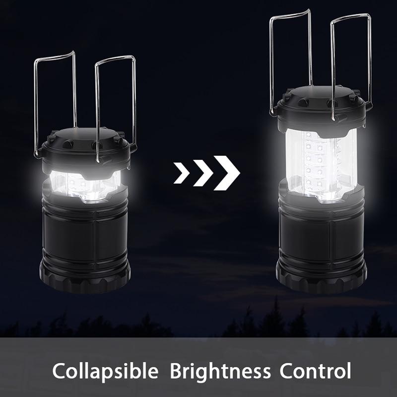 Очень яркий 30 светодиодов Портативный Фонари мини Torch Light Батарея работать складной фонарик для наружного Пеший Туризм Кемпинг Рыбалка ...