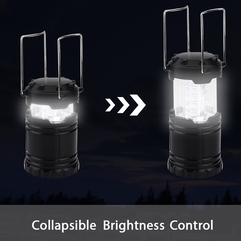 ultra bright 30 led portable lantern mini torch light battery operated foldable flashlight for outdoor hiking