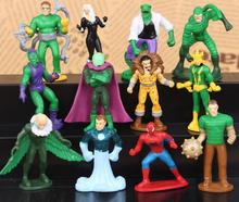 NEW 5cm 12pcs/set Super hero avengers spider-man spider man VULTURE Green Goblin Action figure toy Christmas gift collectors