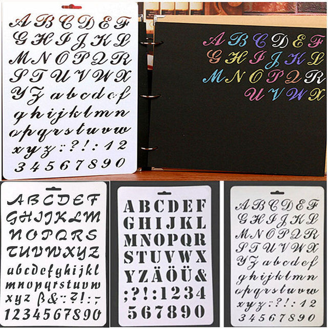 Diy Letter Alphabet Number Layering Stencils For Wall Scrapbooking