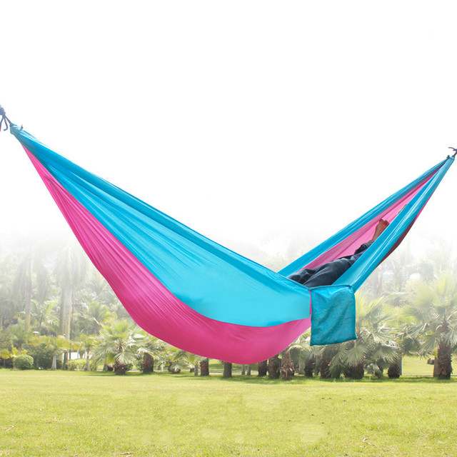 Travel for ultra light outdoor portable hammock double parachute cloth indoor dorm swing mountaineering leisure camping