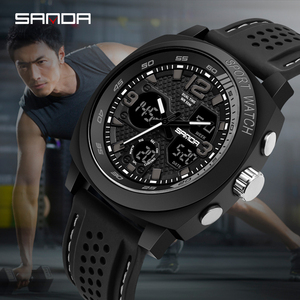 Image 1 - SANDA degli uomini di marca di sport di modo della vigilanza del LED degli uomini impermeabile orologio digitale G casuale di vibrazione orologio militare Relogio Masculino