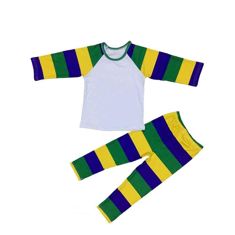 e27b14b13418 NEW ORLEANS Mardi Gras harlequin baby girls raglans ruffle leggings boutique  ruffle t shirts top romper