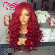 Sexy Brazilian Unprocessed virgin full lace front lace human hair wigs glueless body wave with Natural baby hair free shipping