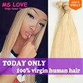 MS love 613 Blonde Virgin Hair Honey Blonde Brazilian Hair Blonde Brazilian Straight Platinum Brazilian Hair Weave Straight