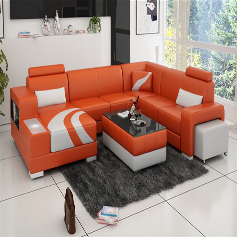 US $1688.0   0413 F3007 Orange and white contemporary recliner sofa set  designs-in Living Room Sets from Furniture on Aliexpress.com   Alibaba Group