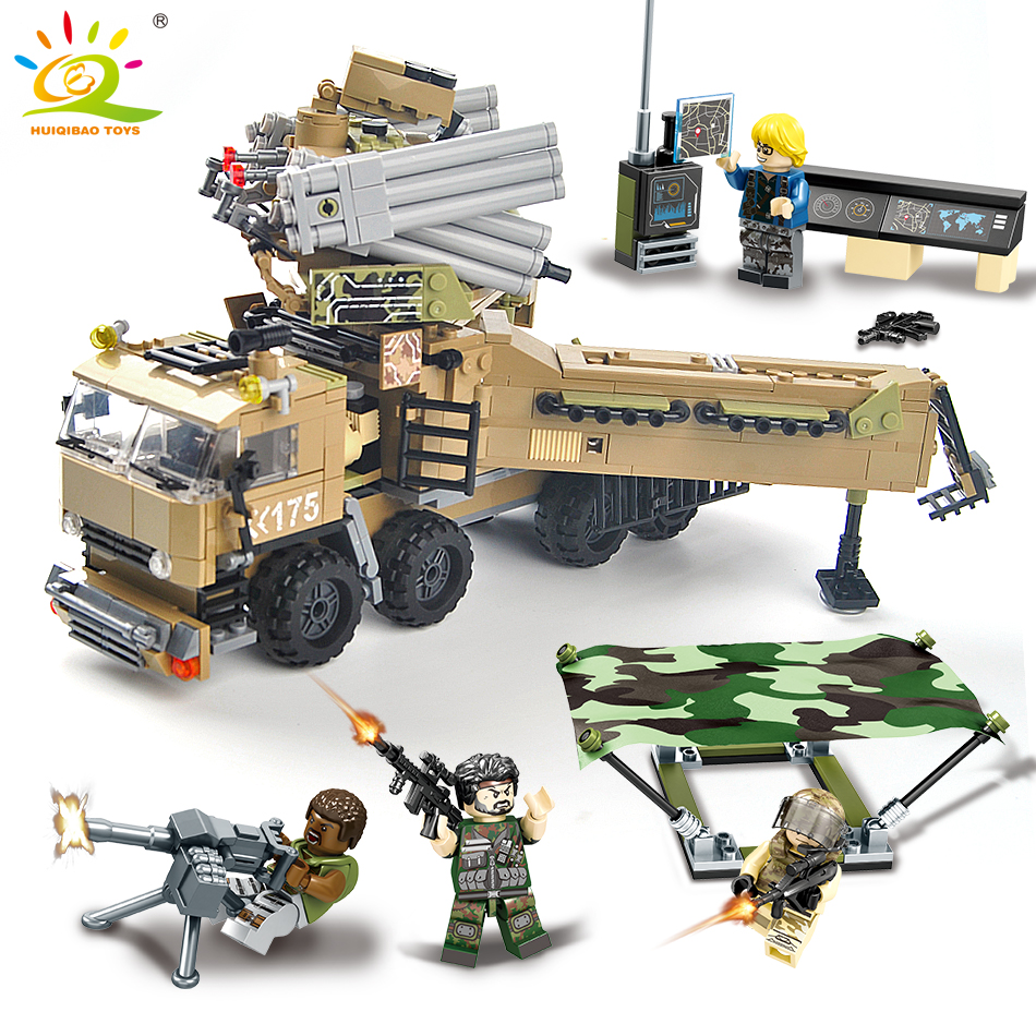 704pcs Military Command Truck Building Blocks Compatible legoed army soldier Figures weapon car Educational children Toy for boy military army world war soldiers compatible legoed city figures weapon building blocks diy bricks enlighten children toy for boy
