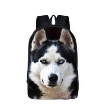 Dog Boxer Husky Backpack For Teenager Children School Bags Staffordshire Bull Terrier German Shepherd Backpack Animal